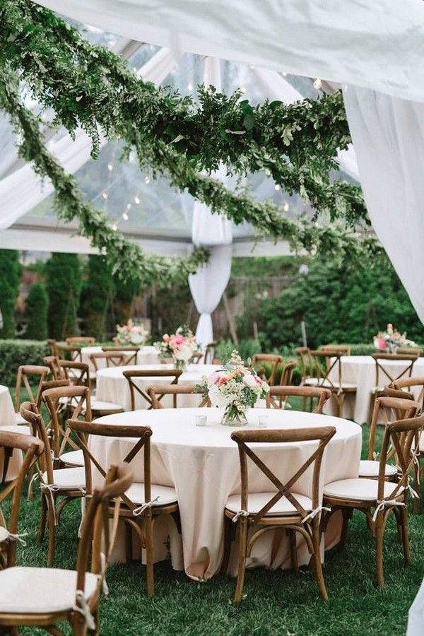40+ Greenery Wedding Garland Decoration Ideas