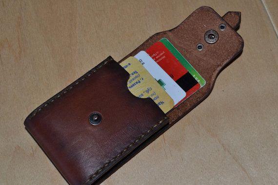 Lederen portemonnee-mannen portemonnee-lederen Card door sergklim