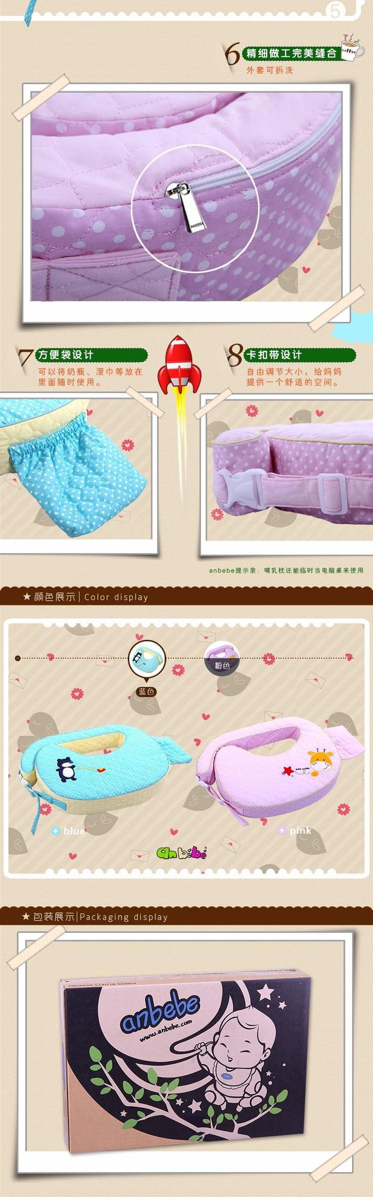 High quality Anbebe Baby Feeding Pillow multifunctional Infant Nursing Pillow Maternal Cushion Gift for Newborn