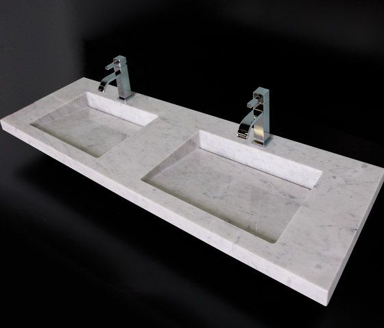 Lacava Bianco Libera Collection Wall Mount/Vanity Top Marble Lavatory W/One  Faucet Hole