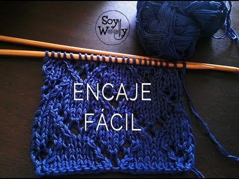 Aprende a Tejer Encaje Fácil en Dos Agujas / Tutorial | Crochet y Dos agujas - Patrones de tejido