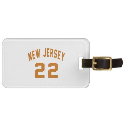 #New Jersey  22 Birthday Designs Luggage Tag - #giftidea #gift #present #idea #number #22 #twenty-two #twentytwo #twentysecond #bday #birthday #22ndbirthday #party #anniversary #22nd