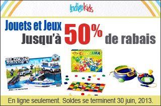 Indigo - Solde jusqu'a 50% de rabais sur les jouets et jeux.  http://www.groupvaudreuil.com/toutes-les-offres/indigo-solde-jusqua-50-de-rabais-sur-les-jouets-et-jeux.