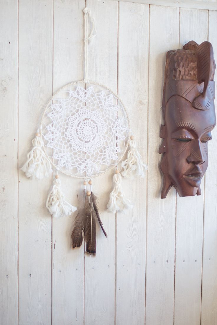 Wall hanging dream catcher, Native American Dreamcatcher, Doily dreamcatcher, Tribal dreamcatcher, Boho dreamcatcher, Bohemian dreamcatcher by MysteriousForests on Etsy