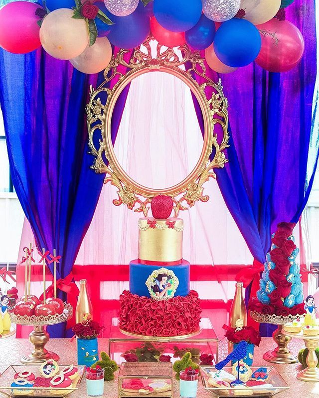 Snow White dessert table fit for a little princess Cake, desserts and styling…