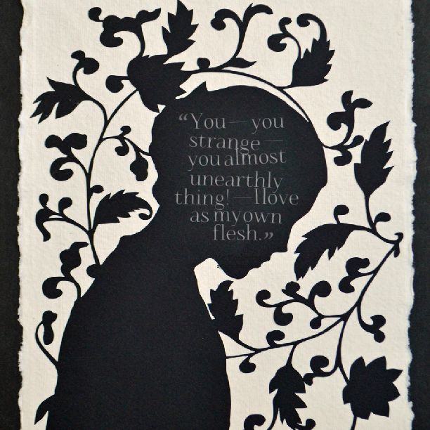 JANE EYRE Papercut - Hand-Cut Silhouette // Coupon Code SALE20