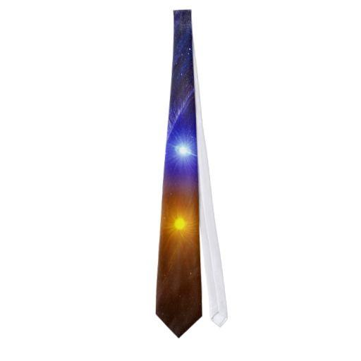 White dwarf and nova star mens tie