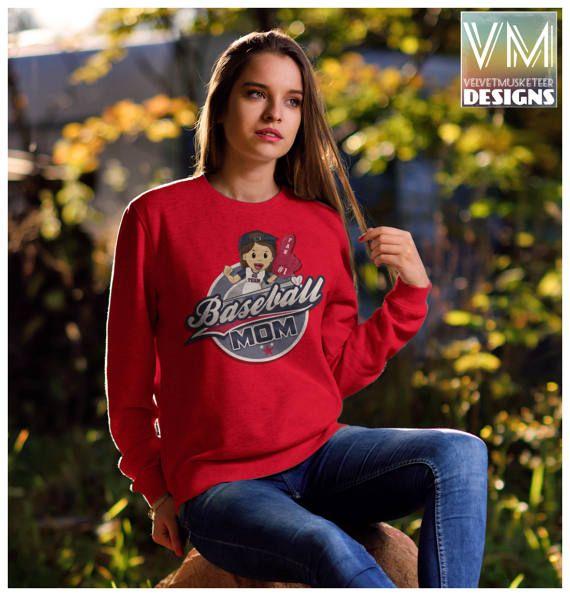 Baseball Gameday Sweater/ Baseball Mom by Velvetmusketeer on Etsy