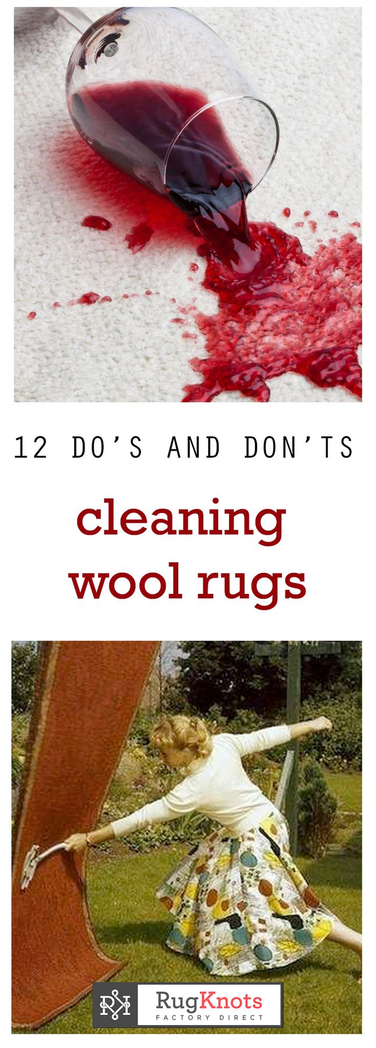 Spilling on a wool rug isn't the end of the world... if you know what to do! Check out our 12 tips on cleaning wool rugs, whether it's a spill or simple vacuuming.