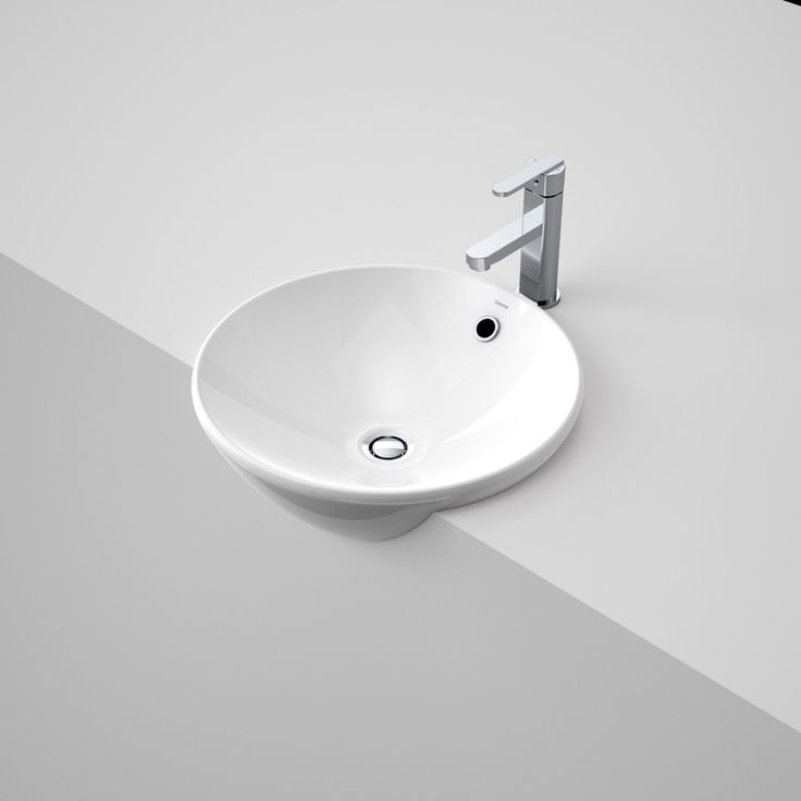 Leda Vasque Semi Recessed Basin  http://www.caroma.com.au/bathrooms/basins/leda-vasque/leda-vasque-semi-recessed-basin