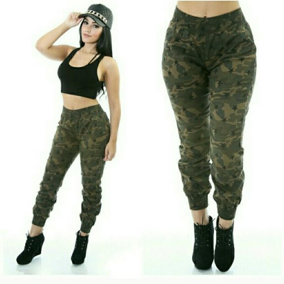 Camo jean pants Camo jean material pants with stretch! I bought them on posh and can't fit them... Jeans