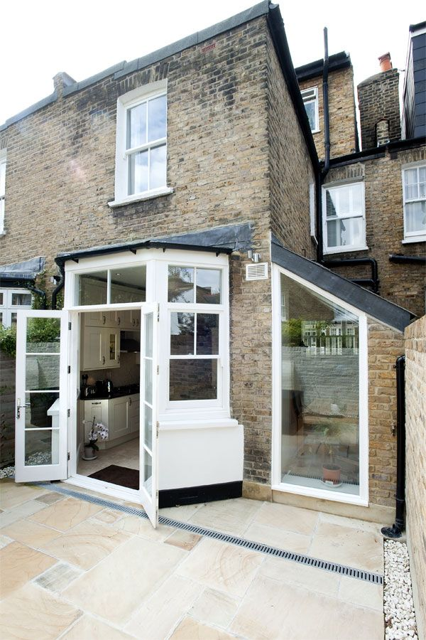 London Borough of Hounslow in Hounslow, Greater London, Side Return Extension, Side Extension, Kitchen Extension, Victorian Terraced House, Bi-Fold Doors, Kitchen, Rear Extension, Roof-lights, Glass Roof, Kitchen, Pitched Roof, Side Return Ideas, Kitchen Extension Ideas