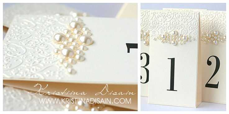 table numbers with pearls