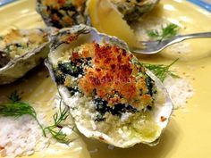 Baked Oysters Onassis