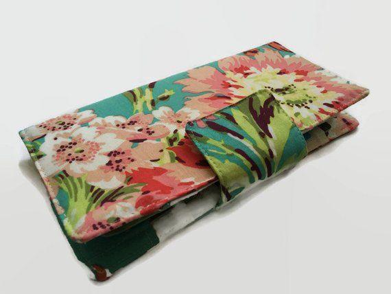 Women's Wallet, Floral Wallet, 38 Credit Card Holder, Card Wallet, Organizer Wallet, Money Wallet, C