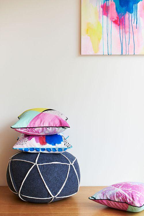 TASSEL+GAINE lookbook shot featuring the Primula & Bolton cushions  I  Photographed by Nikole Ramsay & styled by Emma O'Meara  I  tasselandgaine.com