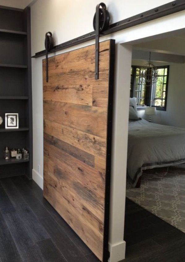 25 best ideas about sliding wood doors on pinterest sliding bedroom doors - Kit rail porte coulissante exterieure ...