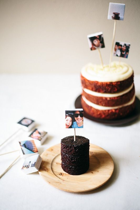 marshmallow instagram cake toppers!!