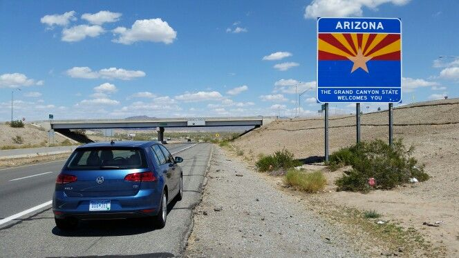 #VWTDI - Today saw the 2015 VW Golf TDI on a higher speed run from the Pacific, over the 2,750' peak on I-10 and back down to the CA/AZ border. Hard to put a great clean diesel down. ;)  Arizona, a state filled with nature's miracles.