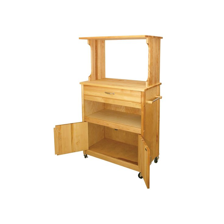 Shop Catskill Craftsmen Natural Hardwood Oiled Finish: 25+ Best Ideas About Microwave Cart On Pinterest