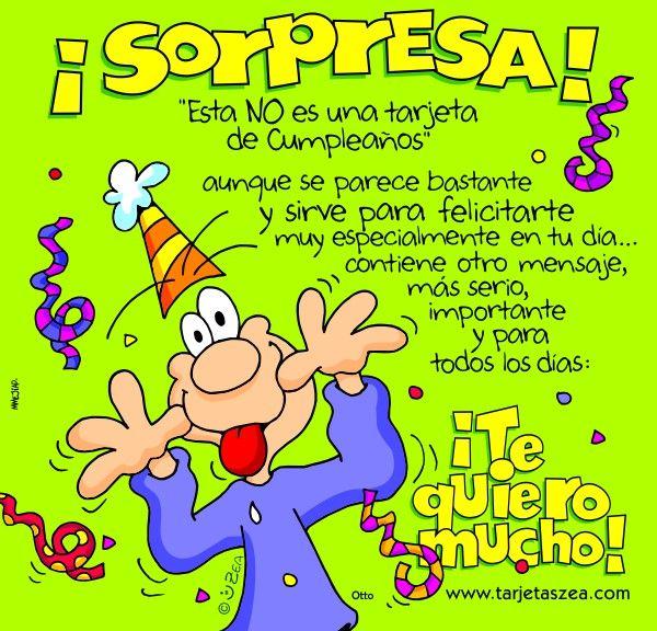 ¡Sorpresa! Esta NO es una tarjeta de Cumpleaños - ツ Imagenes y Tarjetas para Felicitar en Cumpleaños ツ