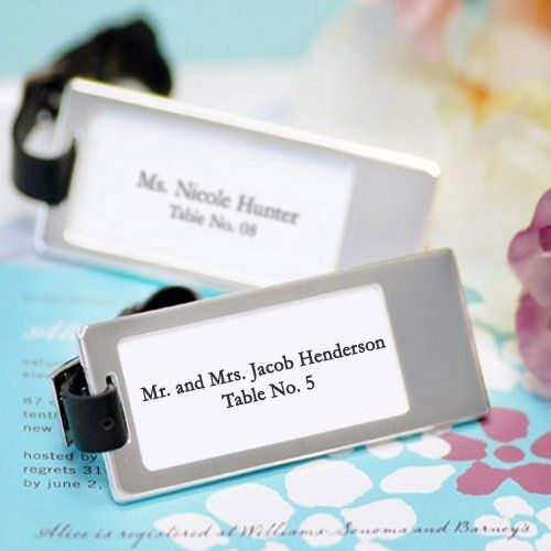 Silver Travel Luggage Tags by Beau-coup