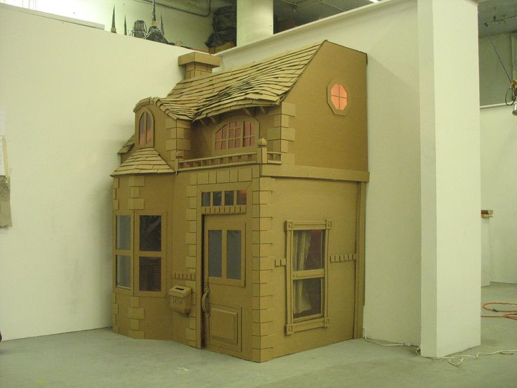 how to build a dollhouse out of cardboard box