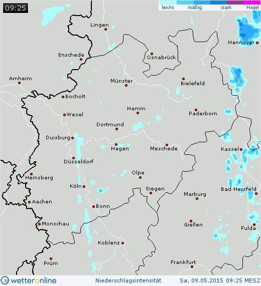 Regenradar Nordrhein-Westfalen - WetterOnline