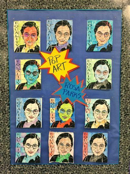 Pop Art Rosa Parks ***FREE*** art integration activity for teachers!