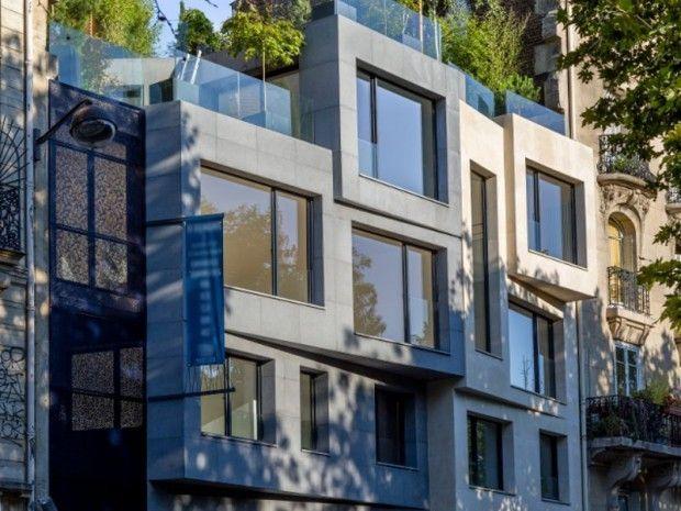 Concevoir 2 maisons à Paris sur une parcelle triangulaire de 113 m2, voici le programme remporté par l'architecte Vincent Eschalier. #maison #Paris #architecture - © Vincent Eschalier