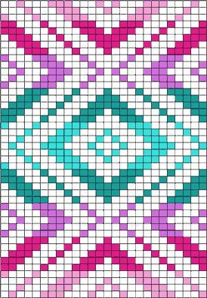 Rautenmuster in abgestuften Farben