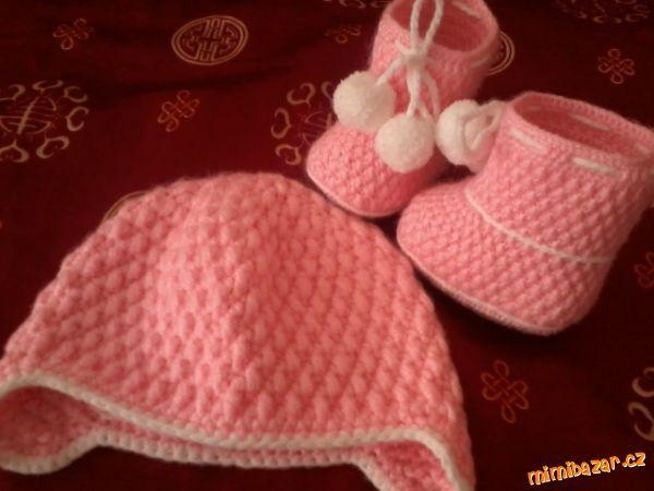 Botičky capáčky na miminko