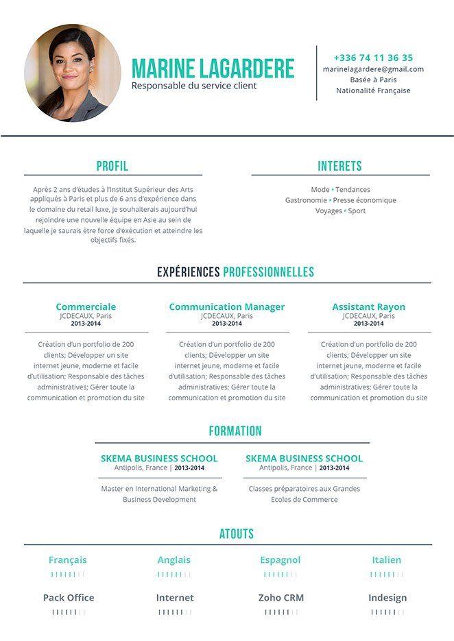 Cv Chef De Service Educatif Recherche Google Resume