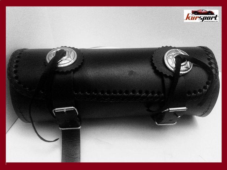 1 x Alforjas Moto Custom Cuero Imitacion Bolsa de herramientas piel sintetica