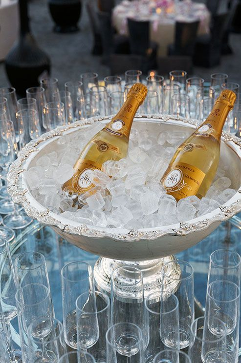 A champagne reception maintains the most celebratory parts of a pricier fete.
