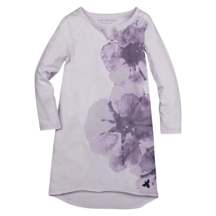 Burt's Bees Baby Toddler Girls' Petunia Dress 5T - Lavender Purple, Toddler Girl's