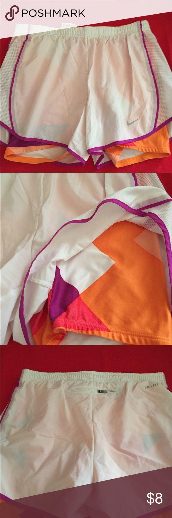 Nike dri fit shorts Zipper pocket in back and small pocket inside Nike Shorts