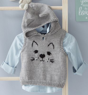 Modèle pull à capuche chat Lay | <br/>    Baby