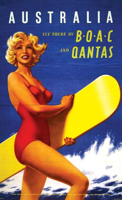 BOAC + Qantas ~ Australia (Hayes, c 1956)