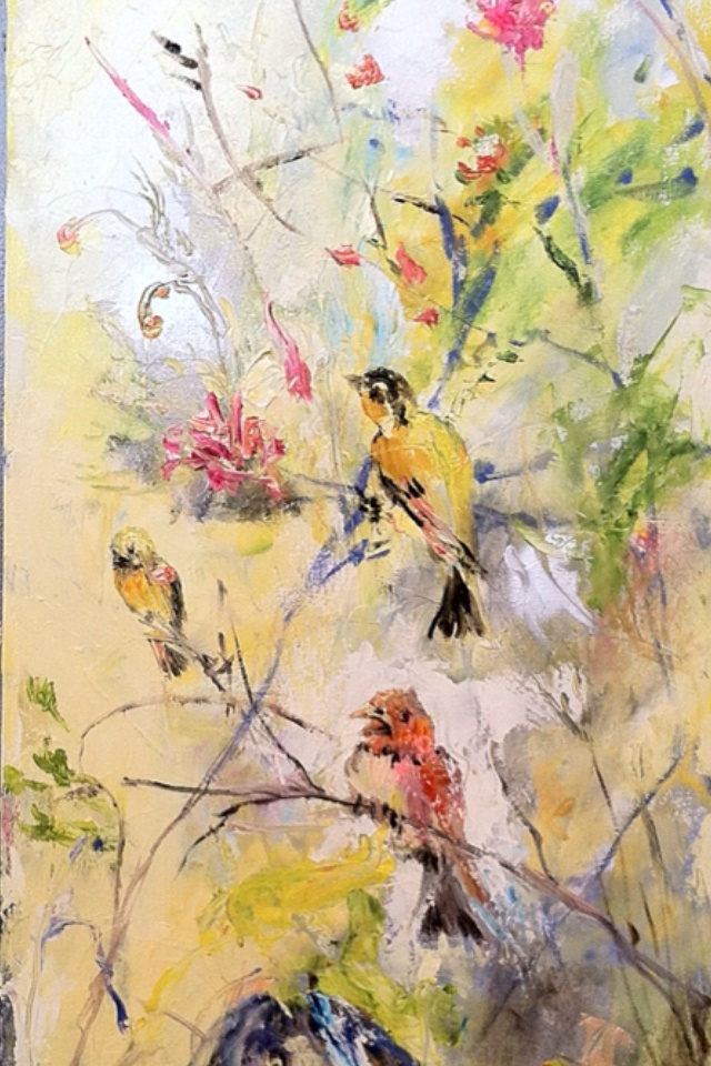 Spring! Beautiful custom painting from Peter Fowler in Buffalo NY.