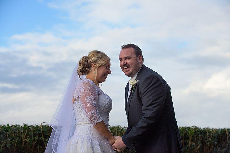Good times in the wedding ceremony. Pic Richard Windeyer. Byron Bay Wedding Celebrant.