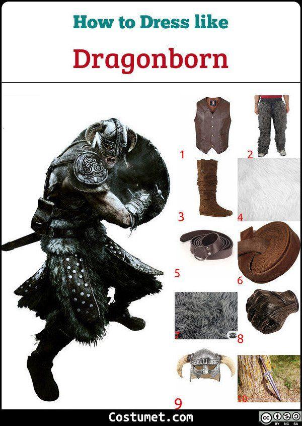 Skyrim Se Halloween 2020 Dragonborn (Skyrim) Costume for Cosplay & Halloween 2020 | Skyrim