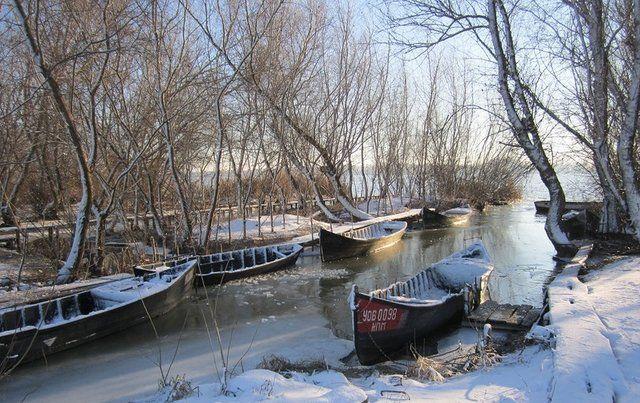 Vilkovo in winter
