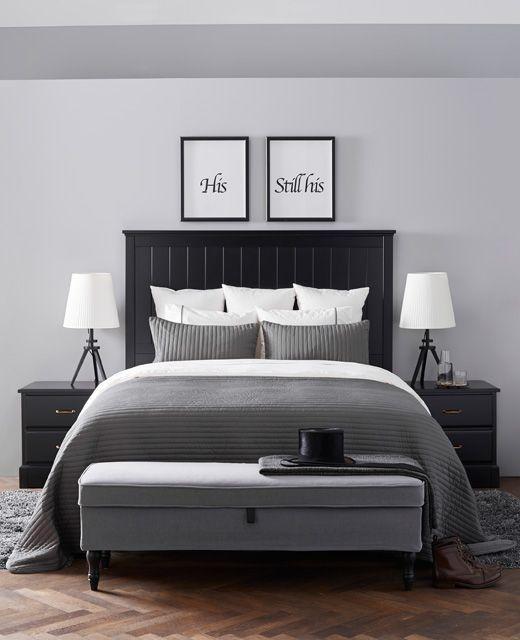 ein sehr akkurates schlafzimmer das etwas an ein hotelzimmer erinnert u a mit undredal bettgestell - Schlafzimmer Mit Ikea Ei