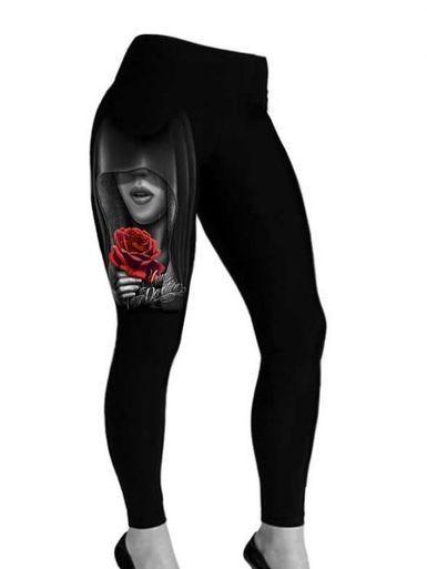 David Gonzales Art DGA Devotion Tattoo Punk Goth Rockabilly Women Leggings Pants