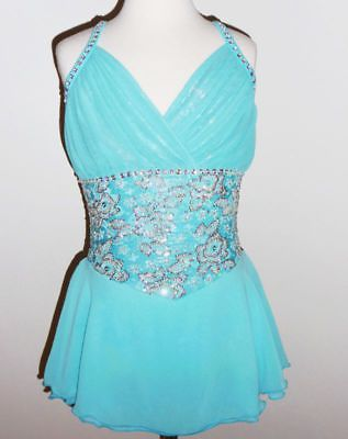 BEAUTIFUL & GORGEOUS ICE FIGURE SKATING DRESS CUSTOM MADE TO FIT