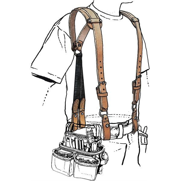 Beefy Leather Tool Belt Suspenders- leather anniversary gift my husband would LOVE this