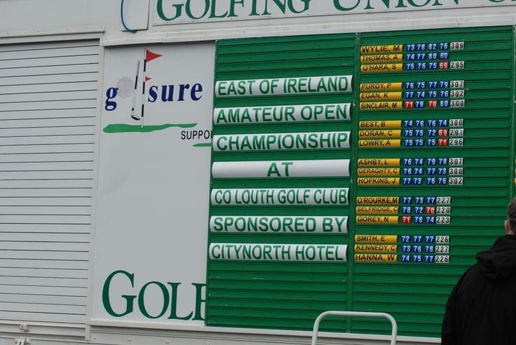 #Scoreboard #Baltray #CityNorth #East of #Ireland