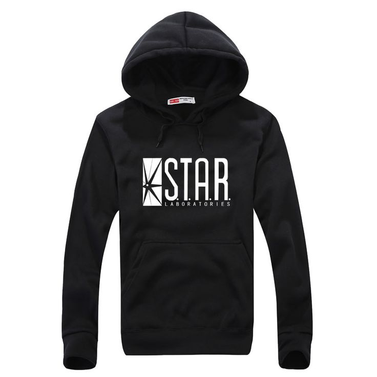 STAR S.T.A.R.labs black men Hooded Hoodies sweatshirt jumper the flash gotham city comic books superman tv series o-neck hoody #Affiliate