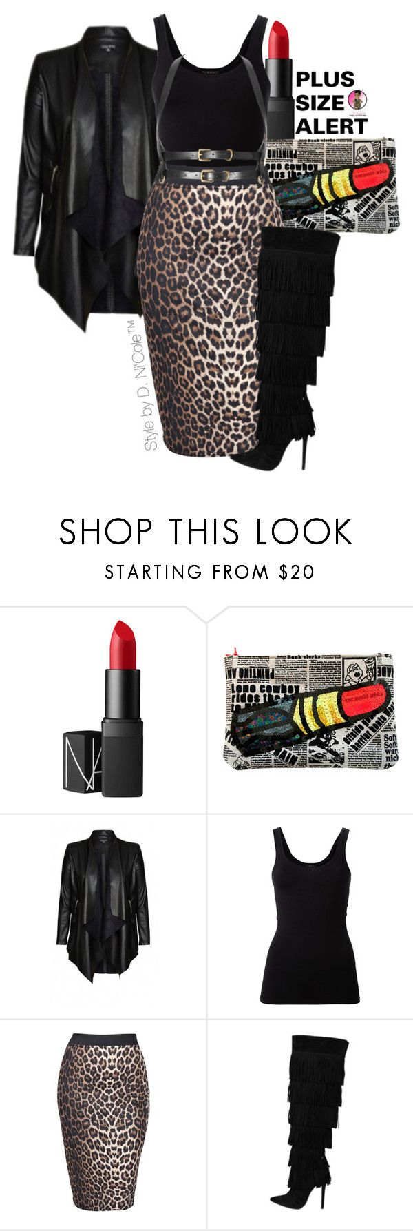 """""""Untitled #2796"""" by stylebydnicole ❤ liked on Polyvore featuring NARS Cosmetics, City Chic, Theory and Boohoo"""